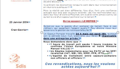 Tract gr ve du 28 janvier 2014 au sdis 74 cfdt pompiers pats - Grille salaire police municipale ...